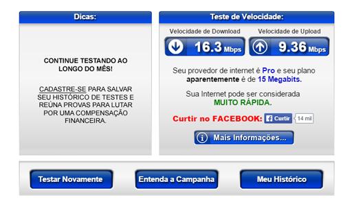 teste de velocidade de internet anatel